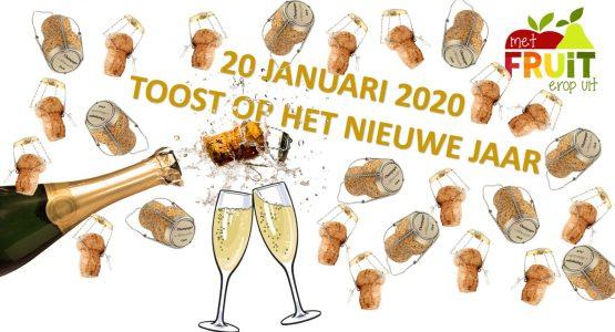 'Toost op het nieuwe jaar' maandag 20 januari